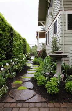 Front Yard Garden Design - Then you may want to think about rebuilding your backyard. Landscaping tips for front yard and backyard that come to […] Small Front Yard Landscaping, Front Yard Design, Farmhouse Landscaping, Luxury Landscaping, Landscaping Rocks, Front Yard Ideas, Outdoor Landscaping, Small Front Yards, Front Yard Gardens