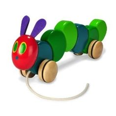The World of Eric Carle The Very Hungry Caterpillar Wood Pull Toy by Kids Preferred, (wooden toy, pull toy, toddler toys, wooden toys, pull toys, eric carle, baby toy, eco friendly, infant toy, fun)