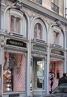 Chantal Thomass. French Lingere. Paris Storefront.