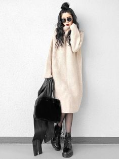 30 hottest winter outfits cold ideas to wear right now Style Outfits, Modest Outfits, Modest Fashion, Casual Outfits, Cute Outfits, Fashion Outfits, Womens Fashion, Fashion Trends, Fashion 2017