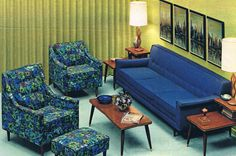 1967 living room - think I own the chair on the right!