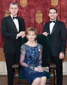 Noblesse et Royautés: Prince Nicolas of Romania, shown here with his aunt Crown Princess Margarita and her husband Prince Radu, turns 30 today, April 2015 (b. April Nicolas is third in line to the throne behind Margarita and his mother Princess Elena. Elizabeth Ii, Princess Elizabeth, Princess Estelle, History Of Romania, Romania People, Romanian Royal Family, Saint Sylvestre, Royal Video, Anne Maria