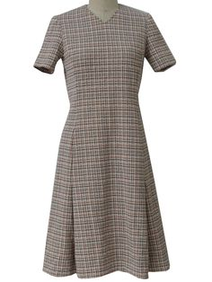 flippy 70's checked dress