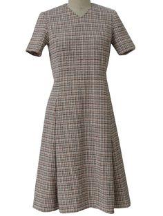 flippy 70's checked dress