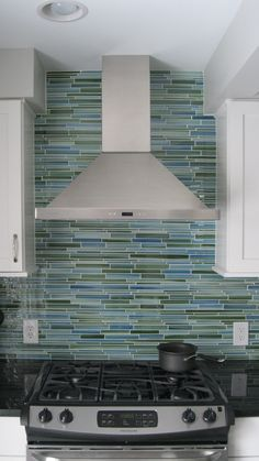 Rip Curl Hand Painted Linear Glass Mosaic Tiles | Rocky Point Tile - Online Glass Tile and Glass Mosaic Tile Store