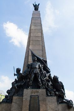 """The Monument of Gat. Andres Bonifacio and the heroes of (by national artist Guillermo Tolentino) By the way, FYI, """"Gat"""" is short for """"gatdula"""", a Filipino term equivalent to the European """"Sir"""" attached to a knight's name. Jose Rizal, Philippines Culture, Aesthetic Backgrounds, History Facts, Filipino, Archaeology, Hero, Artist, Spanish Colonial"""