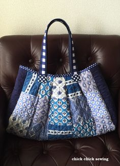 chick chick sewing: Handmade Souleiado Tote Finished ♪ソレイア―ドのハンドメイドバッグ♪