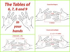 12 Useful Math Hacks You Didn't Learn At School-How To Use Your Hands For 5, 6, and 9 Times Tables