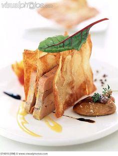 Foie gras and potato crisp Mille-Feuille