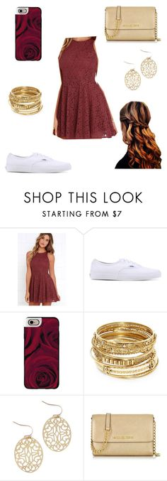 """Untitled #191"" by a-hidden-secret ❤ liked on Polyvore featuring Lucy Love, Vans, Casetify, ABS by Allen Schwartz and Michael Kors"