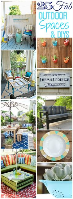 Get totally inspired for summer with these 25 fabulous outdoor spaces and DIYs at thehappyhousie.com