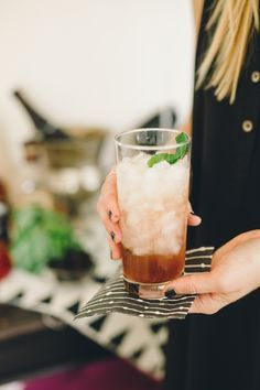 Champagne and bourbon cocktails are the perfect cocktail for your next holiday party!