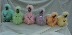 Coloured Silkie Chickens