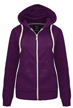 New Ladies Womens Plain Hoodie Hooded Zip TOP Zipper Sweatshirt Jacket Coat Red Hoodie, Fleece Hoodie, Hoodie Jacket, Sweater Hoodie, Hooded Sweatshirts, Shirt Hoodies, Red Shirt, Pullover, Sweat Shirt