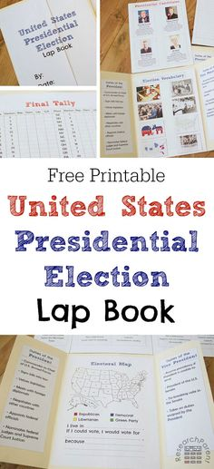 Presidential Election Lap Book - Free, printable lapbook template for learning about the United States presidential election process and candidates via /researchparent/ Presidential Election Process, Us Election, Election Night, History Education, Teaching History, Kids Education, Waldorf Education, History Class, Childhood Education