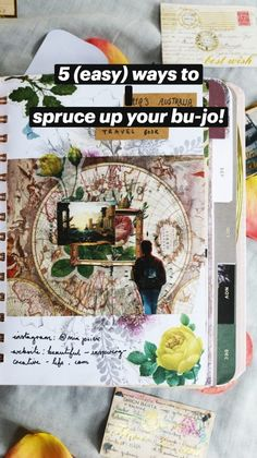 Junk Journal, Bullet Journal, Dried Flowers, Arts And Crafts, Crafting, Collage, Notes, Watercolor, Stickers