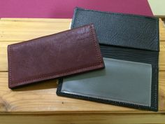 Alpaca Leather Checkbook Cover - Burgundy, Black, Brown - Full Grain Leather