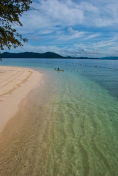 Mamutik Island, Sabah Borneo  - Just a short boat ride away from the hustle and bustle of Kota Kinabalu, this uninhabited island is a great place to spend an afternoon