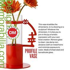 Profile Vase designed by Andrea Branzi // #DesignMemorabilia #Italy #kichen #kitchenware #home #homedecor #shop #gift #creative #design #vase #flowers #AndreaBranzi