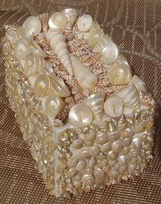 3x3x5 Seashell tresure trinket box