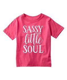 Empowertees Heather Hot Pink Sassy Little Soul Tee - Toddler & Girls | zulily