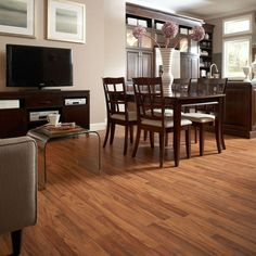 Shop allen + roth 7.96-in W x 3.97-ft L Toasted Embossed Laminate Wood Planks at Lowes.com