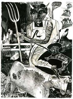 SUE COE http://www.widewalls.ch/artist/sue-coe/ #illustration #drawing