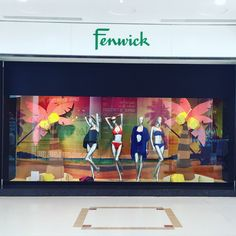 """FENWICK,London, UK, """"All we need are palm trees and a little bit of paradise"""", pinned by Ton van der Veer"""