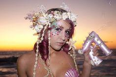 Mermaid Fantasy Crown Headdress ~ MADE TO ORDER by Wickedheart on Etsy https://www.etsy.com/listing/103625625/mermaid-fantasy-crown-headdress-made-to