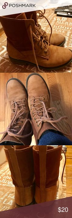 Lucky brand fashion boots Pre loved boots Lucky Brand Shoes Lace Up Boots