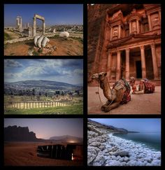 The beauty of Jordan in one picture! Amman, Jerash, Petra, Wadi Rum and the Dead Sea