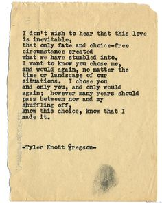 Typewriter Series #1440 by Tyler Knott GregsonChasers of the Light & All The Words Are Yours are Out Now!