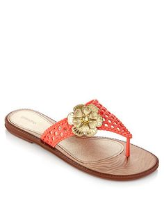 Donna+coral+flower+sandals+by+Grendha+on+secretsales.com