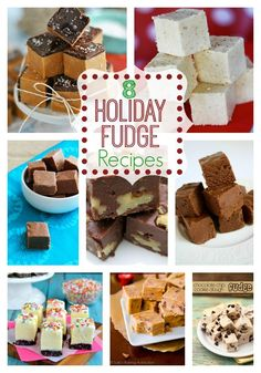 Fudge is a easy holiday treat you can make in minutes.  Try a new spin on this easy treat with these holiday fudge recipes. www.skiptomylou.org #fudgerecipes #holidayrecipes #fudge