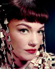 """Anne Baxter - May 7, 1923, Michigan City, IN. Pictured here from the movie """"The Ten Commandments"""" with Charlton Heston."""