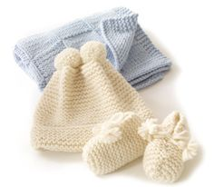 Free Knitting Pattern: Glamour-Baby's First Blankie