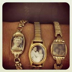 Old photos & vintage watch bands.