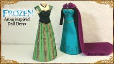 Anna (Frozen) inspired Doll Dress - Fabric Tutorial - Published on Jan 18, 2016 Hi guys! Today we're making this Frozen inspired Anna's Coronation dress for dolls ^^ The link to my dress form tutorial is below, if you don't have a doll to make the dress for. How I made the top is explained in more detail in these two videos; https://www.youtube.com/watch?v=PkBmQ... https://www.youtube.com/watch?v=K9HaW... I'm gluing the dress together to the dress form, since it is going to stay on it for…