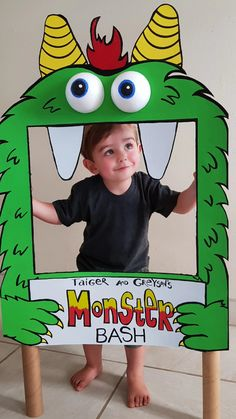 Diy craft for a little monster themed party. Little monsters, Cute monsters, Photo booth? Photo props, Boys party ideas