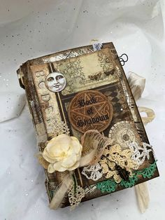 Excited to share this item from my shop: Handmade vintage Book of Shadow s junk Journal Handmade Journals, Handmade Books, Handmade Rugs, Handmade Crafts, Journal Covers, Book Journal, Cute Journals, Vintage Journals, Handmade Gifts For Boyfriend
