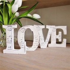 LOVE letters: use something like this as guest book? Then hang up at home!