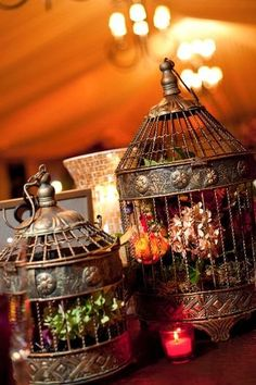was not sure if I should put this in lanterns or birdcages (either way, it's lovely & decorative)