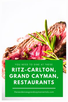 The Ritz-Carlton, Grand Cayman, restaurants combine an incredible dining experience and service with delicious dishes inspired by the Caribbean. Grand Cayman, Making Memories, Tasty Dishes, Restaurants, Yummy Food, The Incredibles, Meals, Vacation, Dining