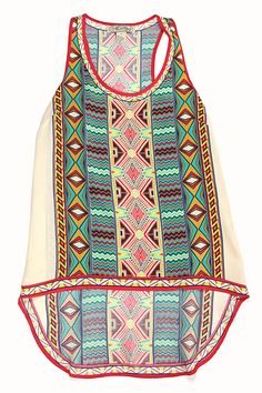 Printed Tunic Top – Spotted Moth