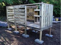 """pallet chicken coop...and 4 other farm useful pallet projects!  Did you know that 40% of wood harvested in the US is for shipping pallets, that are used once, and """"thrown away""""?"""