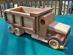 Dump truck wooden handmade toy Heirloom Quality solid red Oak  Walnut and Cherry  finished with natural beeswax FREE SHIPPING