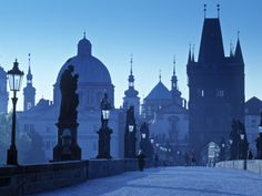 Prague, Czech Republic - Charles Bridge looking into Old Town (Walter Bibikow)