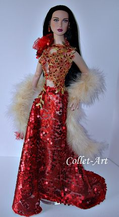 """https://flic.kr/p/YoqpqE   OOAK Tonner 22"""" American Model 1/3 BJD SD Doll Fashion Clothes """"Holiday Bling"""" by Collet-Art"""