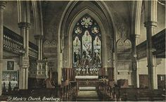 Postcard of the altar and marble tablets in St. The tablet on one side is carved with The Lord's Prayer & the other tablet in carved with the Ten Commandments by monumental mason, Wright Tweedale Stafford. Lord's Prayer, Church Of England, Ten Commandments, Altar, Marble, Carving, Wood Carvings, Altars, Sculpting