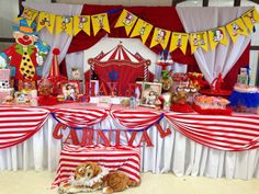 Circus candy and sweets table